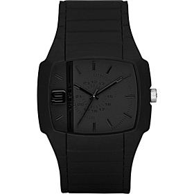 Men's Black Color Domination Analog Black Dial Watch Black/Blue