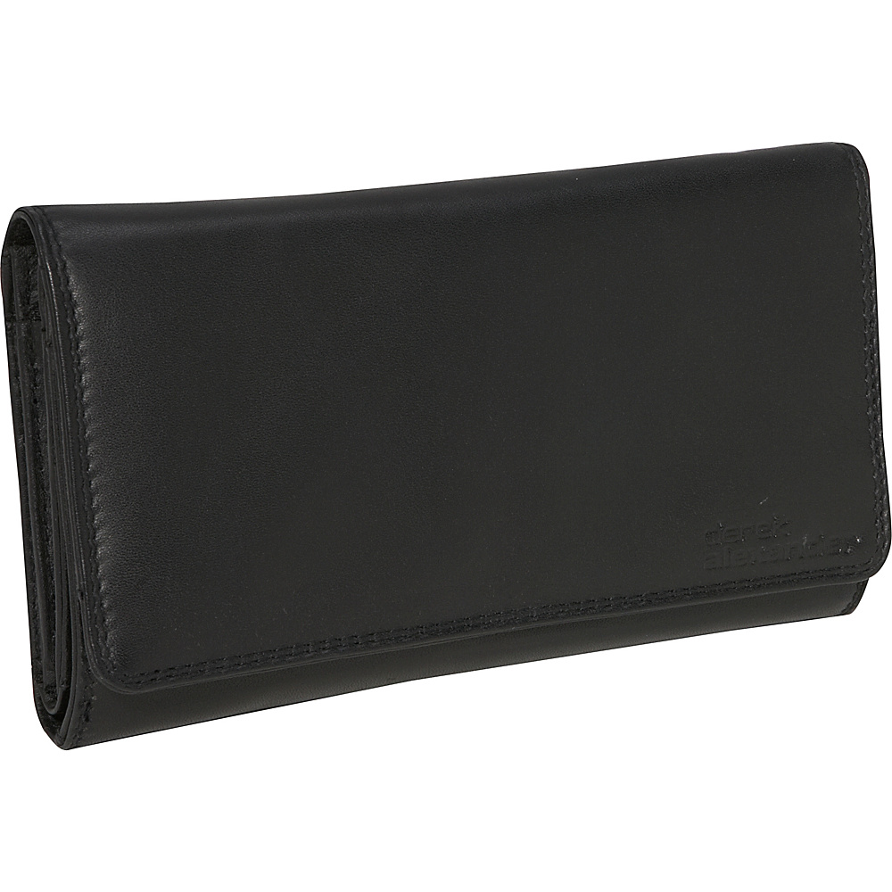Derek Alexander 3 Part Clutch Black - Derek Alexander Womens Wallets - Women's SLG, Women's Wallets