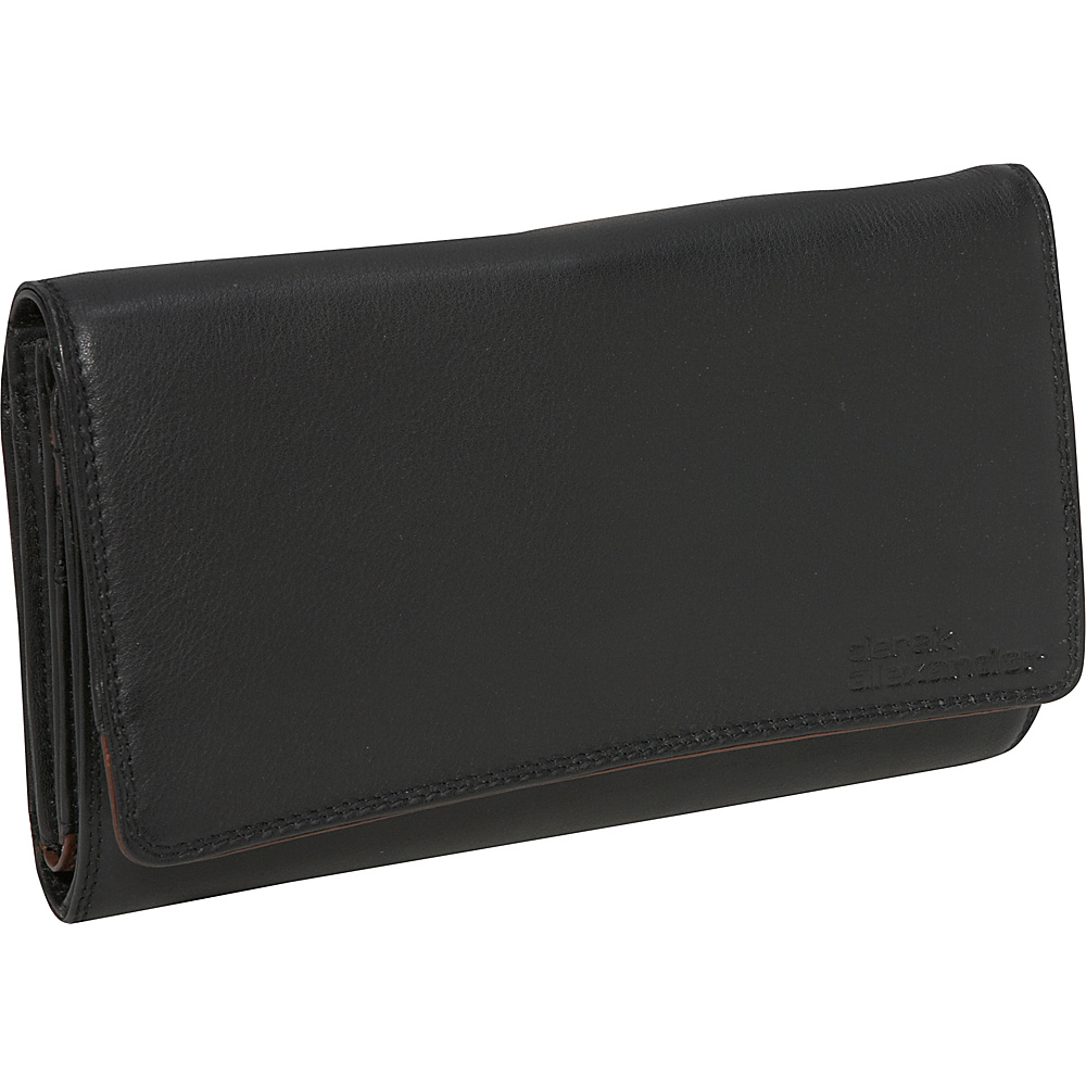 Derek Alexander 3 Part Clutch Black/Brandy - Derek Alexander Womens Wallets - Women's SLG, Women's Wallets