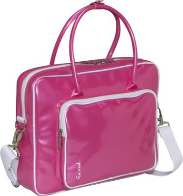 Ice Red Shine 2 Compact Glossy Laptop Tote - Pink