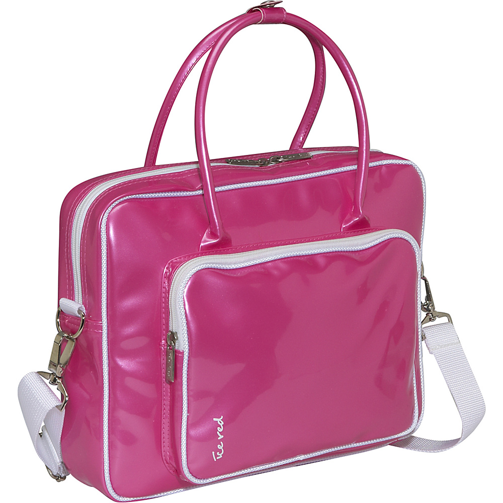 Ice Red Shine 2 Compact Glossy Laptop Tote - Pink - Work Bags & Briefcases, Non-Wheeled Business Cases
