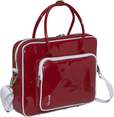 Ice Red Shine 2 Compact Glossy Laptop Tote Red - Ice Red Non-Wheeled Business Cases