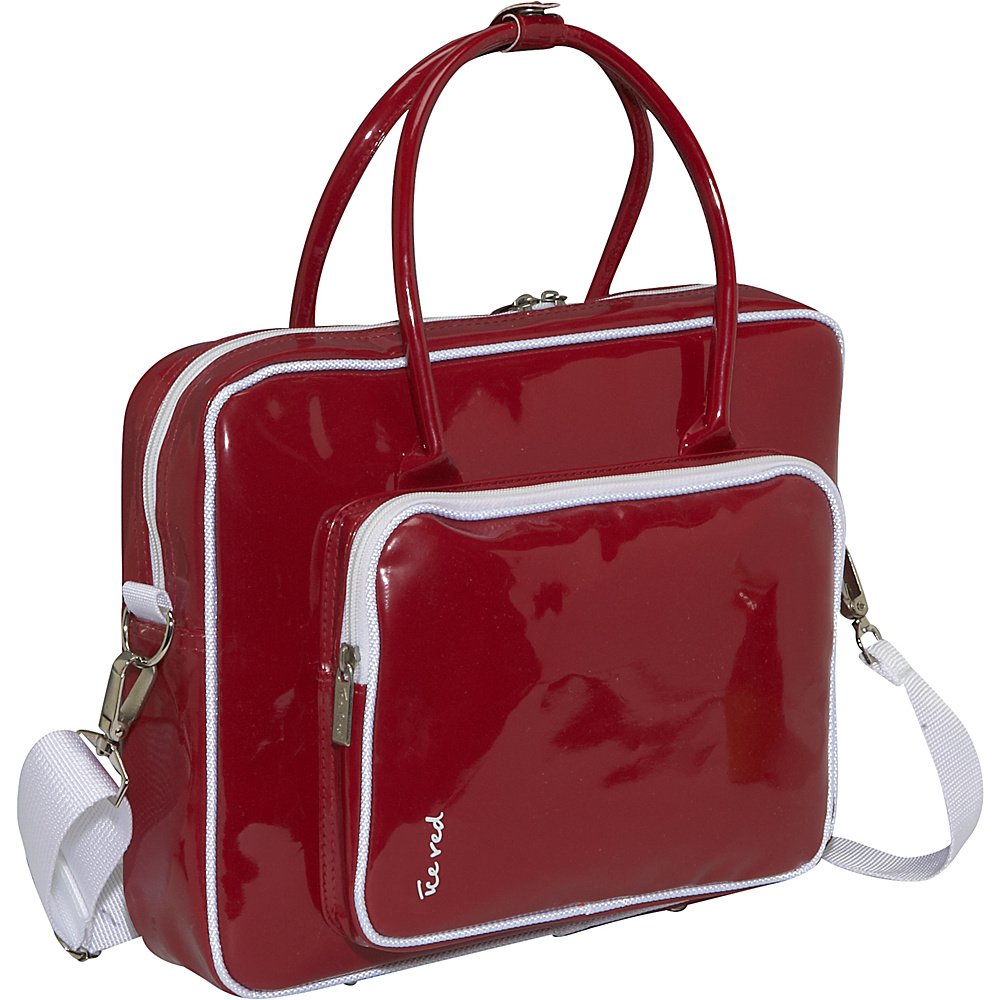 Ice Red Shine 2 Compact Glossy Laptop Tote Red - Ice Red Non-Wheeled Business Cases - Work Bags & Briefcases, Non-Wheeled Business Cases