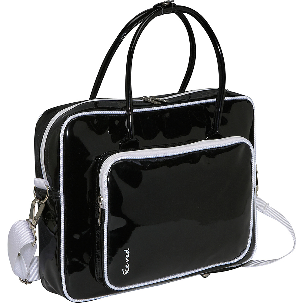 Ice Red Shine 2 Compact Glossy Laptop Tote - Black - Work Bags & Briefcases, Non-Wheeled Business Cases