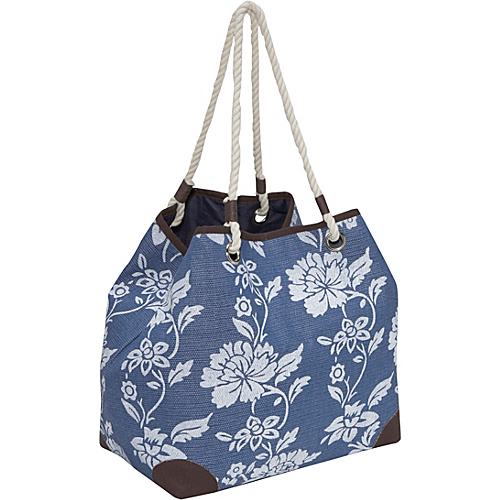 Magid Paper Straw flower print 4-poster bag - Tote