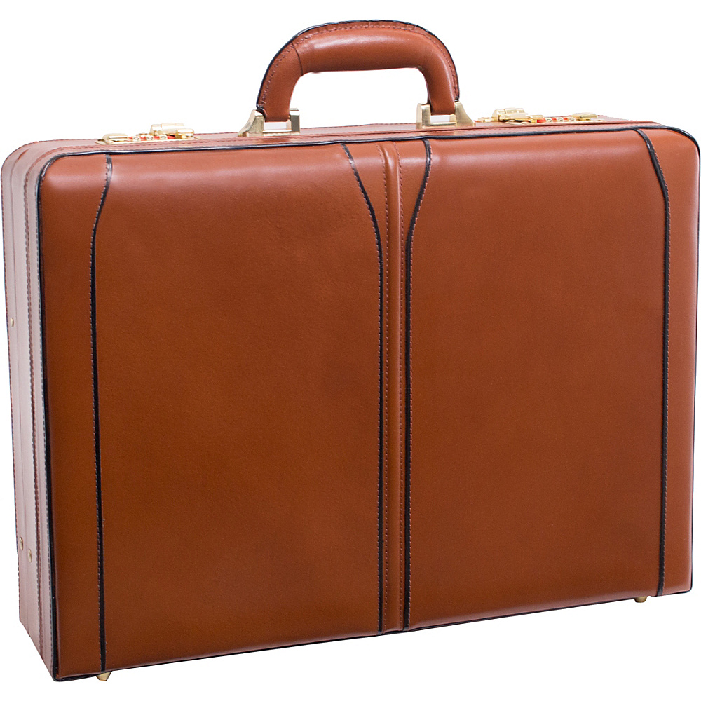 McKlein USA Turner Leather Expandable Attache Case Brown - McKlein USA Non-Wheeled Business Cases - Work Bags & Briefcases, Non-Wheeled Business Cases
