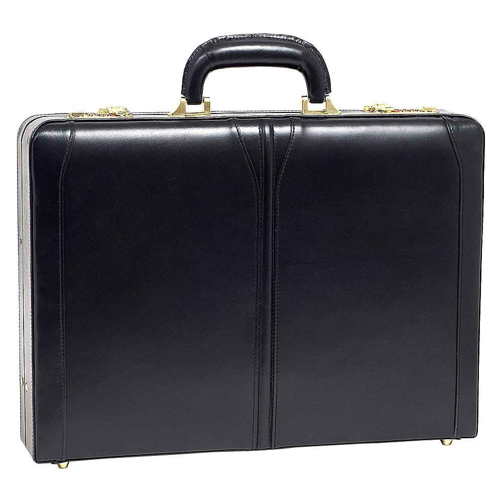 McKlein USA Lawson Leather Attache Case - Black - Work Bags & Briefcases, Non-Wheeled Business Cases