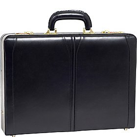 Lawson Leather Attache Case Black
