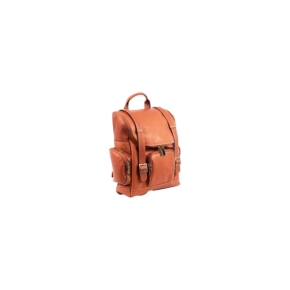 ClaireChase Portofino Laptop Backpack - Large - Saddle - Backpacks, Business & Laptop Backpacks