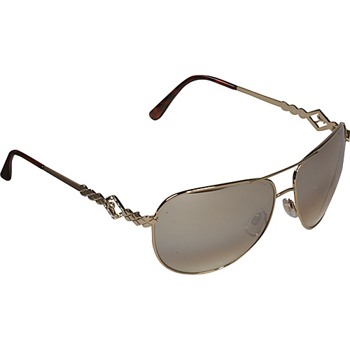 Rocawear Sunwear Textured Aviator Sunglasses - Gold