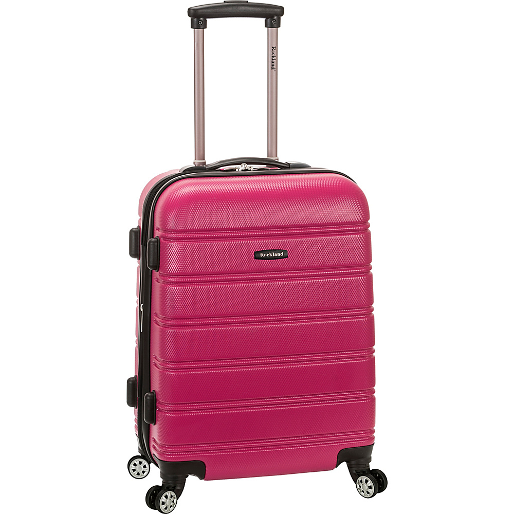 Rockland Luggage 20 Melbourne ABS Carry On Magenta Rockland Luggage Hardside Carry On