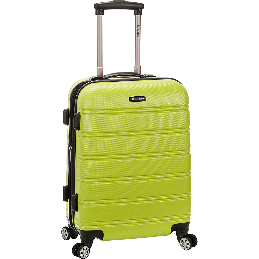 Rockland Luggage 20 Melbourne ABS Carry On Lime Rockland Luggage Hardside Carry On