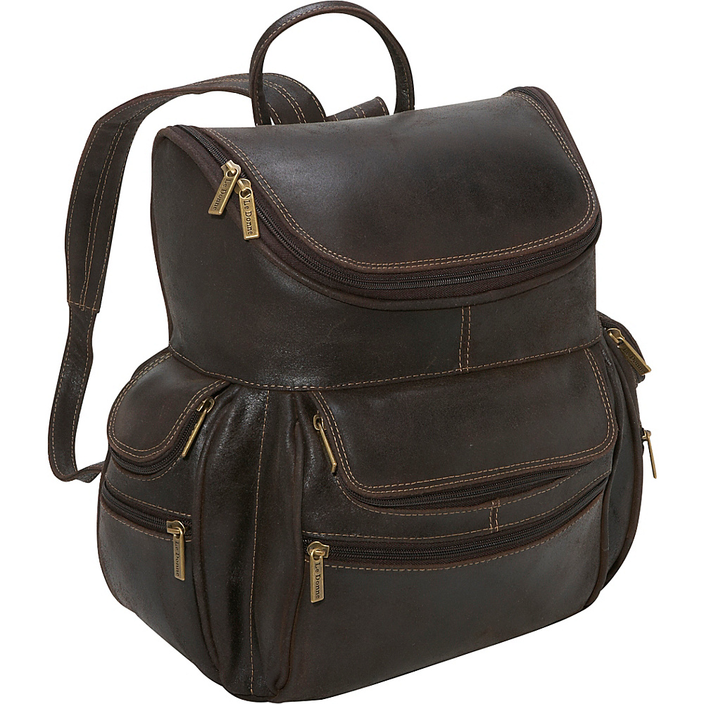 Le Donne Leather Distressed Leather Laptop Backpack - Backpacks, Business & Laptop Backpacks