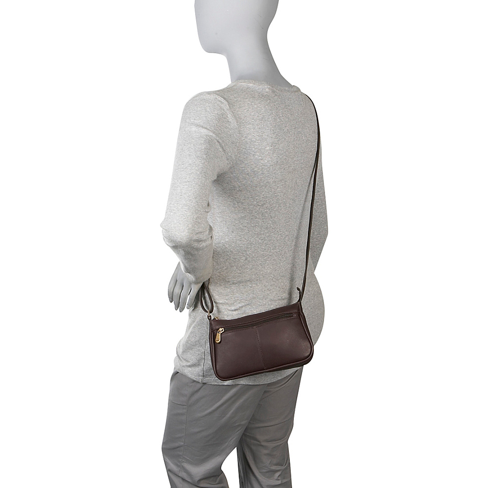 Le Donne Leather Top Zip Mini Cross Body Tan - Le Donne Leather Leather Handbags