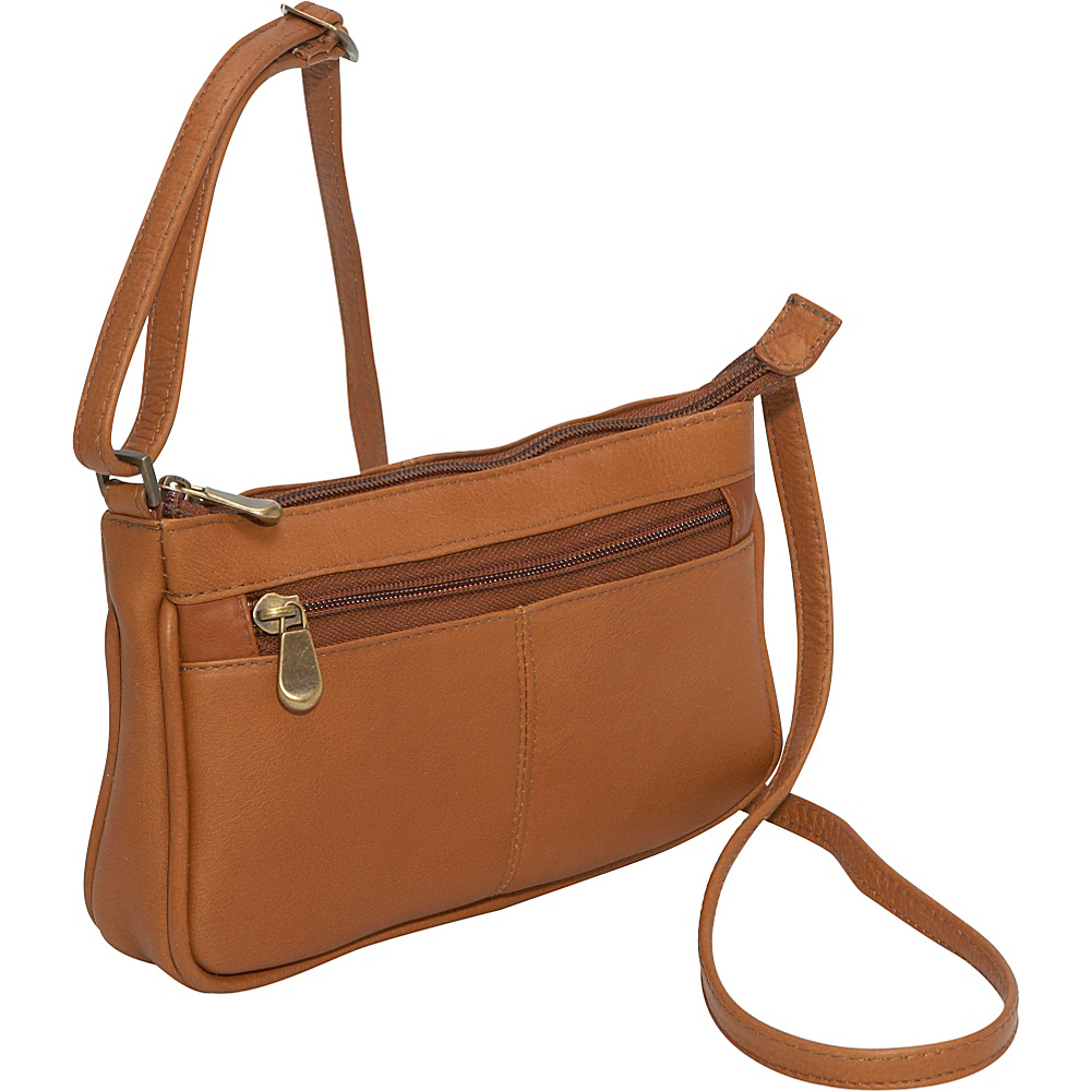 Le Donne Leather Top Zip Mini Cross Body Tan - Le Donne Leather Leather Handbags