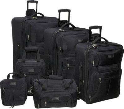 Geoffrey Beene Luggage 6 Piece Ebony Luggage Set