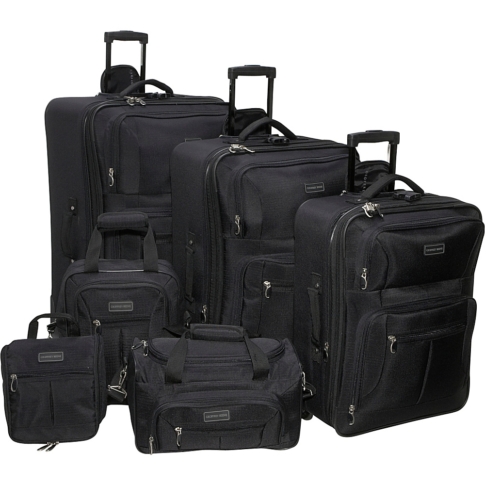 Geoffrey Beene Luggage 6 Piece Ebony Luggage Set - Luggage, Luggage Sets