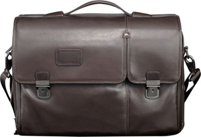Tumi Alpha Leather Flap Expandable Brief