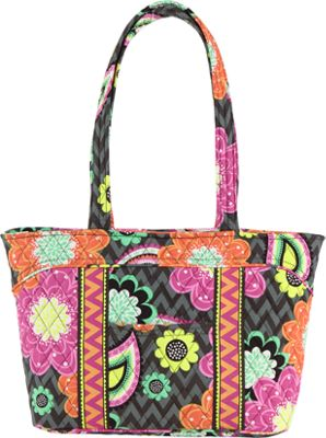 Vera Bradley Mandy Tote Ziggy Zinnia - Vera Bradley Fabric Handbags