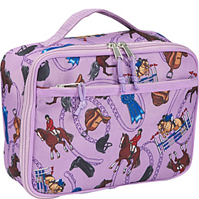 English Riding Purple Lunch Box Purple English Riding