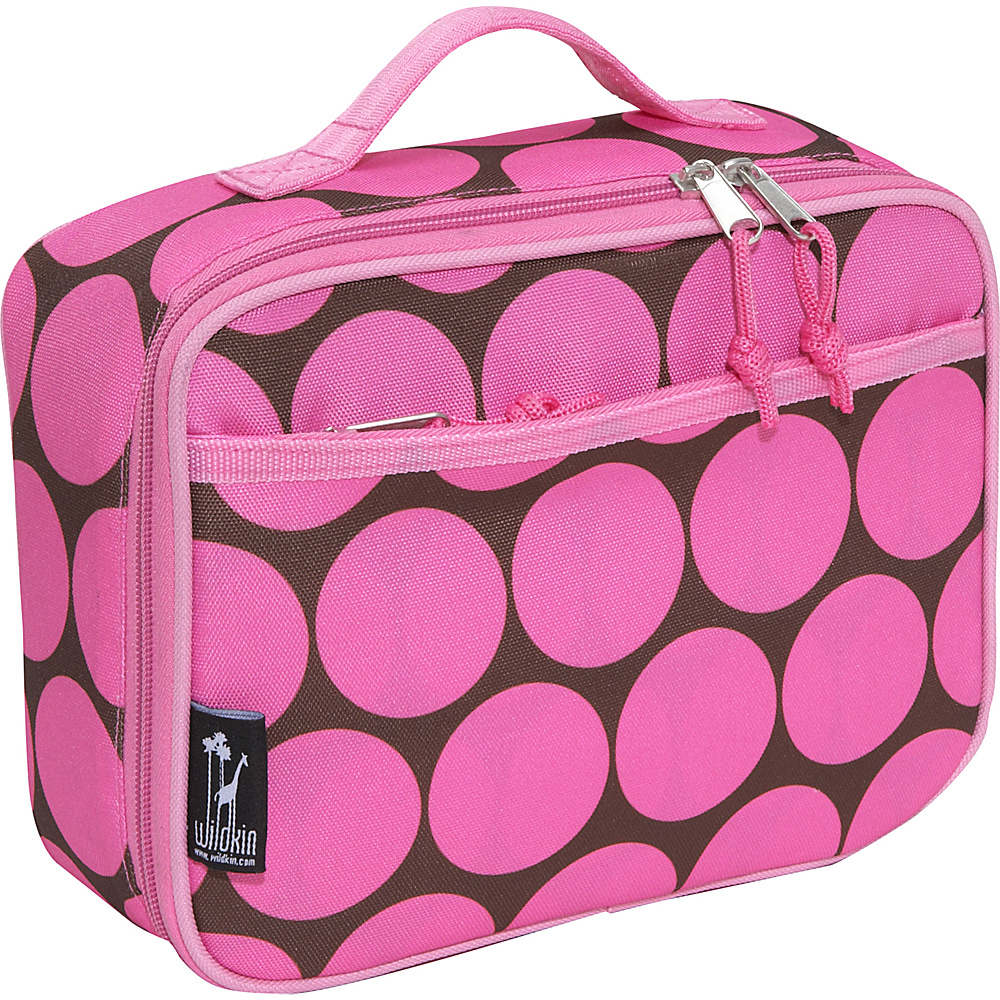 Wildkin Big Dots Pink Lunch Box - Big Dots - Pink - Travel Accessories, Travel Coolers
