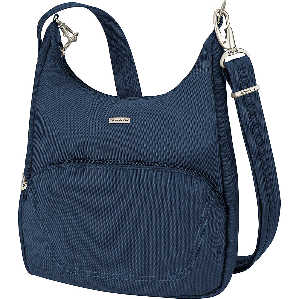Travelon Anti Theft Classic Essential Messenger Bag Steel Blue Travelon Fabric Handbags