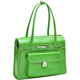 Wenonah - Ladies' Leather Laptop Briefcase Green