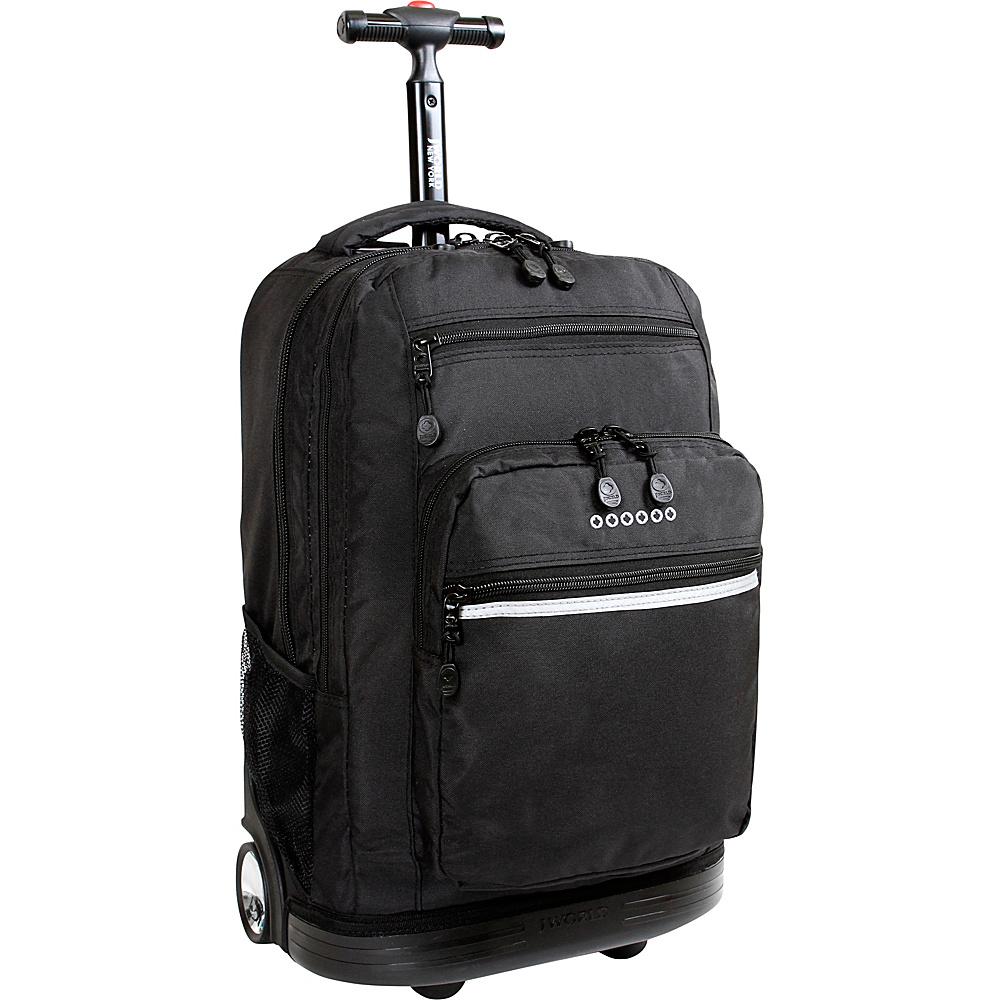 J World Sundance Laptop Rolling Backpack - Black - Backpacks, Rolling Backpacks