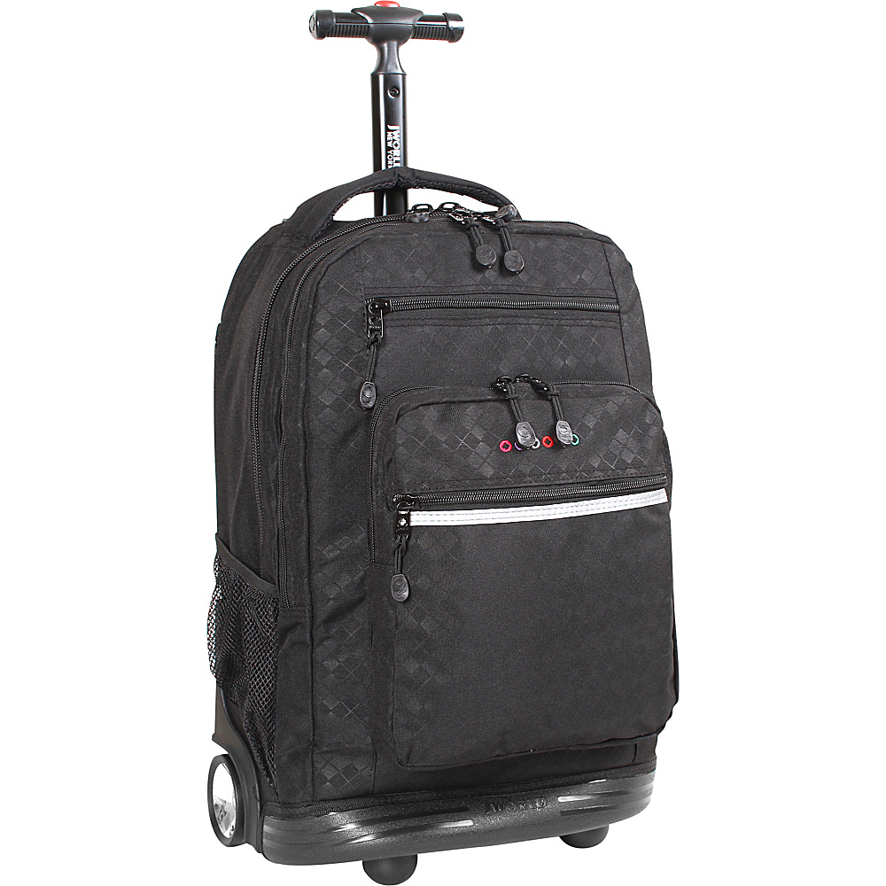 J World New York Sundance Laptop Rolling Backpack Argyle-Black - J World New York Rolling Backpacks - Backpacks, Rolling Backpacks