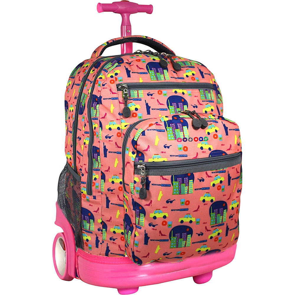J World Combo Rolling Backpack /& Lunch Bag Back to School Combo Set Sundance//Corey
