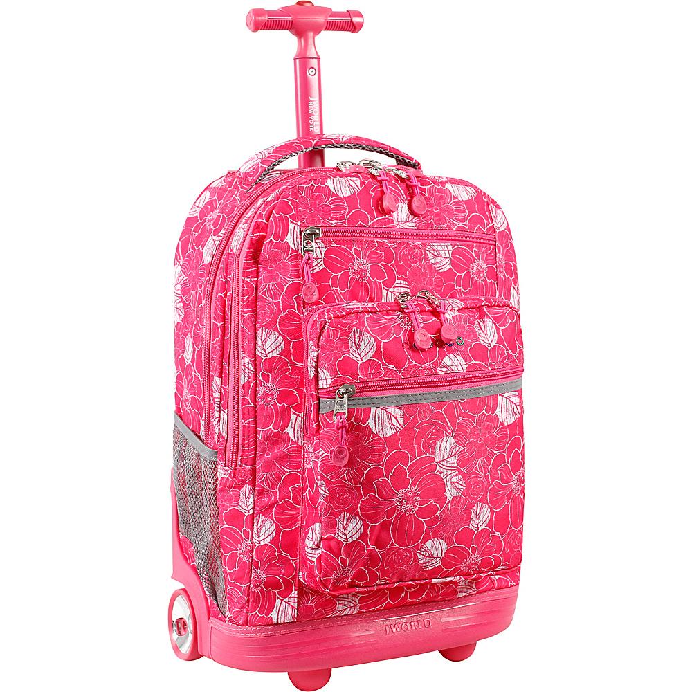 J World New York Sundance Laptop Rolling Backpack ALOHA - J World New York Rolling Backpacks - Backpacks, Rolling Backpacks