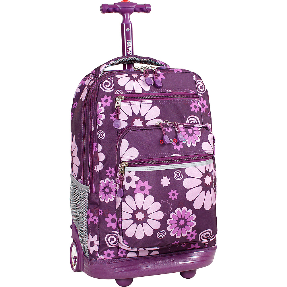 J World Sundance Laptop Rolling Backpack - Purple - Backpacks, Rolling Backpacks