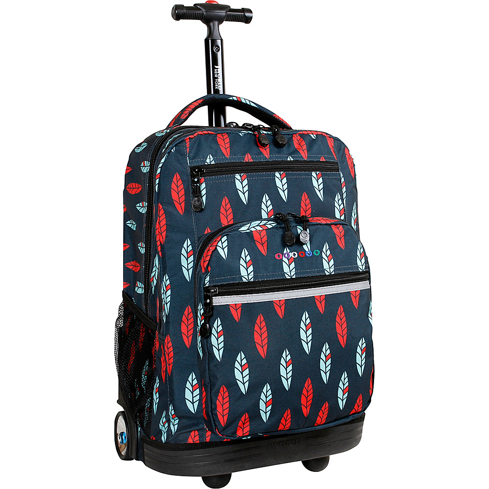 J World New York Sundance Laptop Rolling Backpack Indi - J World New York Rolling Backpacks - Backpacks, Rolling Backpacks