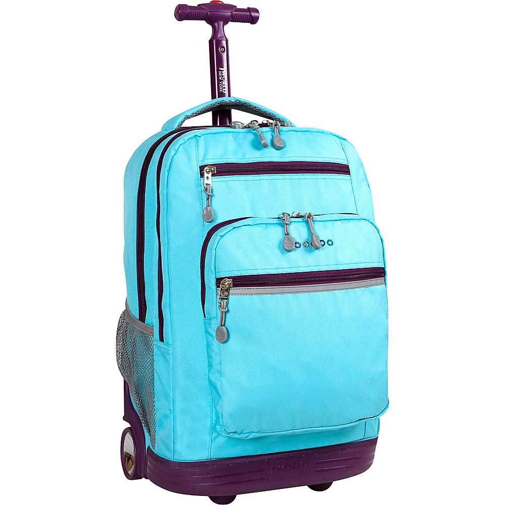 J World New York Sundance Laptop Rolling Backpack Sky Blue - J World New York Rolling Backpacks - Backpacks, Rolling Backpacks
