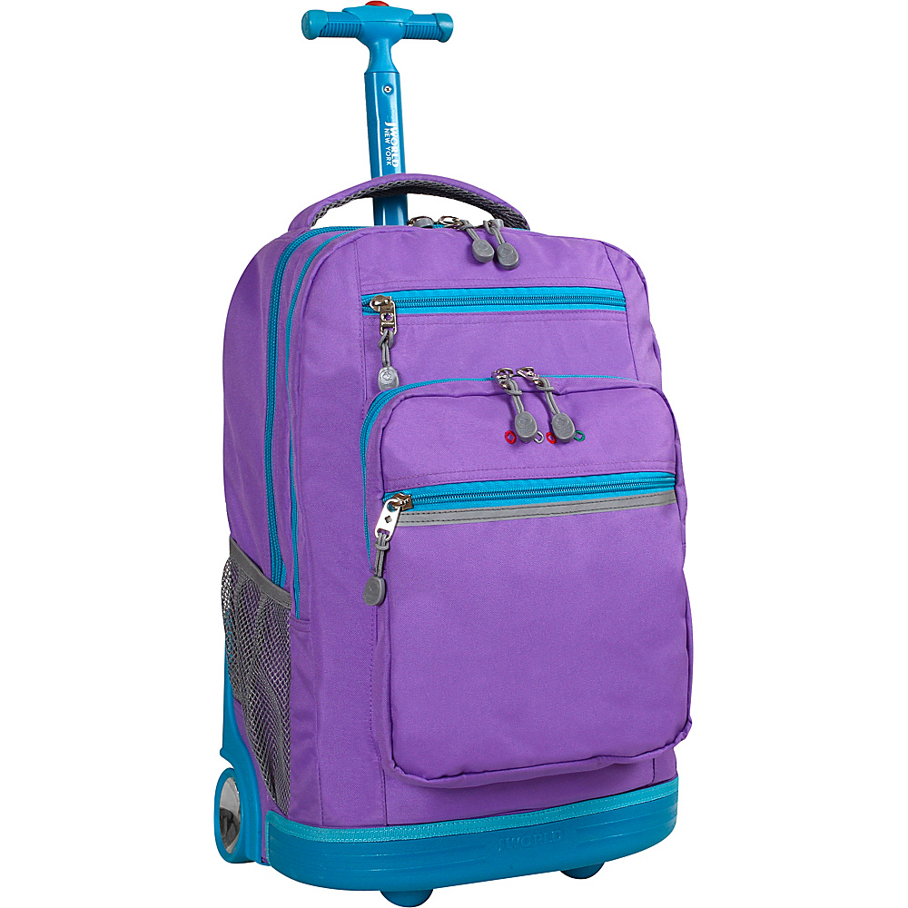 J World New York Sundance Laptop Rolling Backpack Orchid - J World New York Rolling Backpacks - Backpacks, Rolling Backpacks