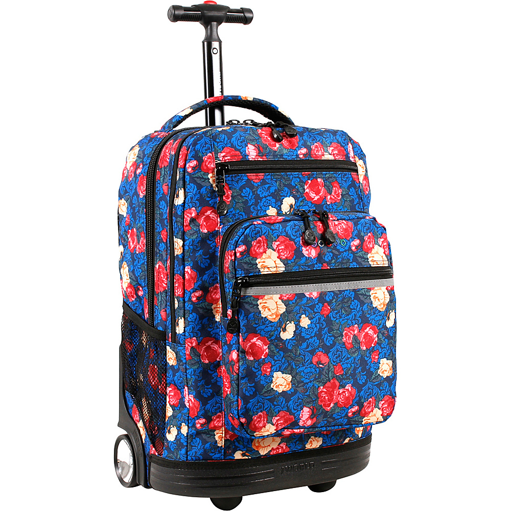 J World New York Sundance Laptop Rolling Backpack Vintage Rose - J World New York Rolling Backpacks - Backpacks, Rolling Backpacks
