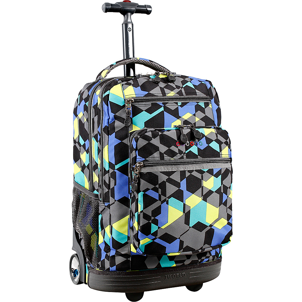 J World New York Sundance Laptop Rolling Backpack Cubes - J World New York Rolling Backpacks - Backpacks, Rolling Backpacks