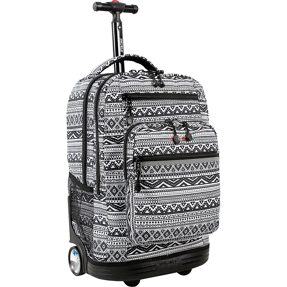 J World New York Sundance Laptop Rolling Backpack Tribal - J World New York Rolling Backpacks - Backpacks, Rolling Backpacks