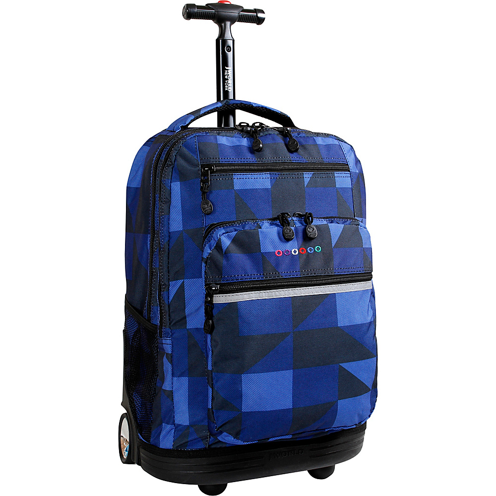 J World Sundance Laptop Rolling Backpack - Block Navy - Backpacks, Rolling Backpacks