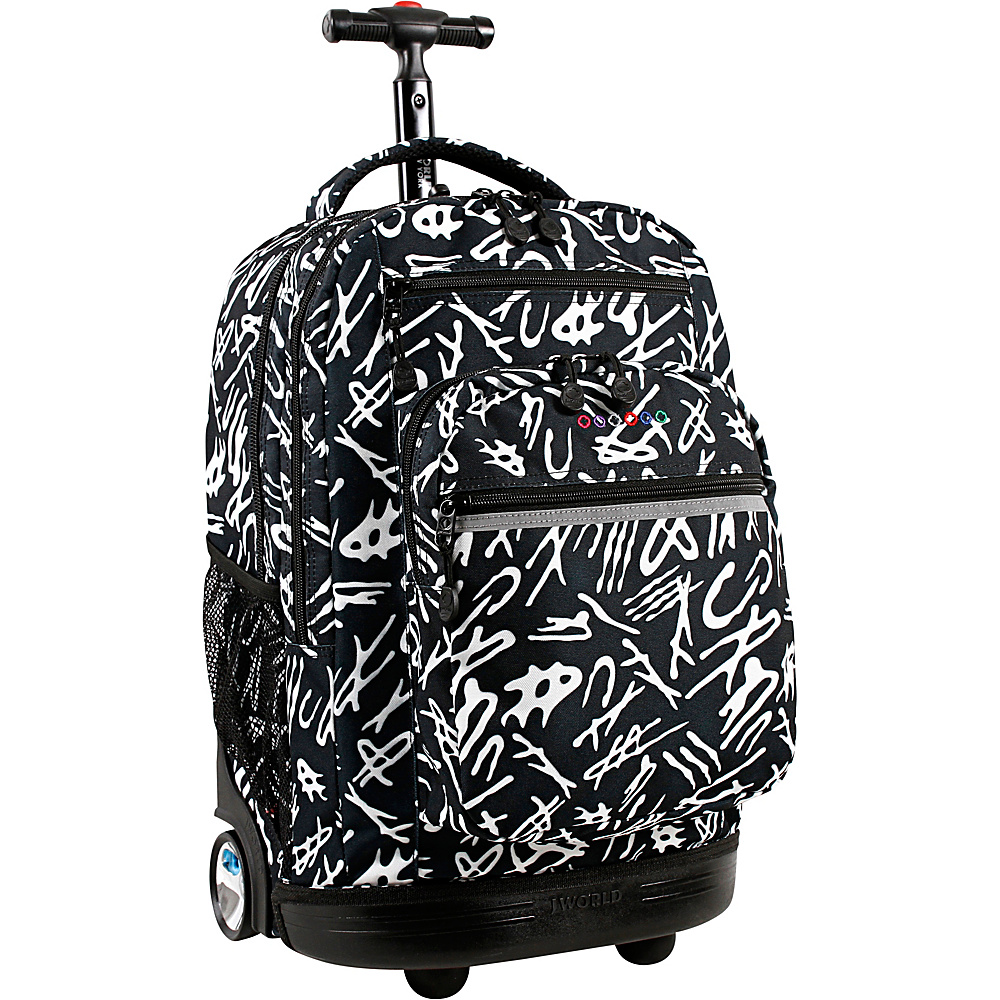 J World New York Sundance Laptop Rolling Backpack Script - J World New York Rolling Backpacks - Backpacks, Rolling Backpacks