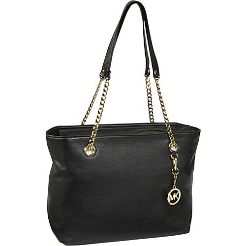 MICHAEL Michael Kors Jet Set Chain Large E/W Tote Black - MICHAEL Michael Kors Designer Handbags