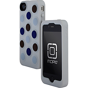 Dotties for iPhone 4 White/Chocolate, Light Blue, Navy Blue