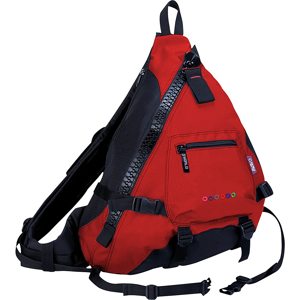 J World Hickory Sling Bag - Red/Black - Backpacks, Slings
