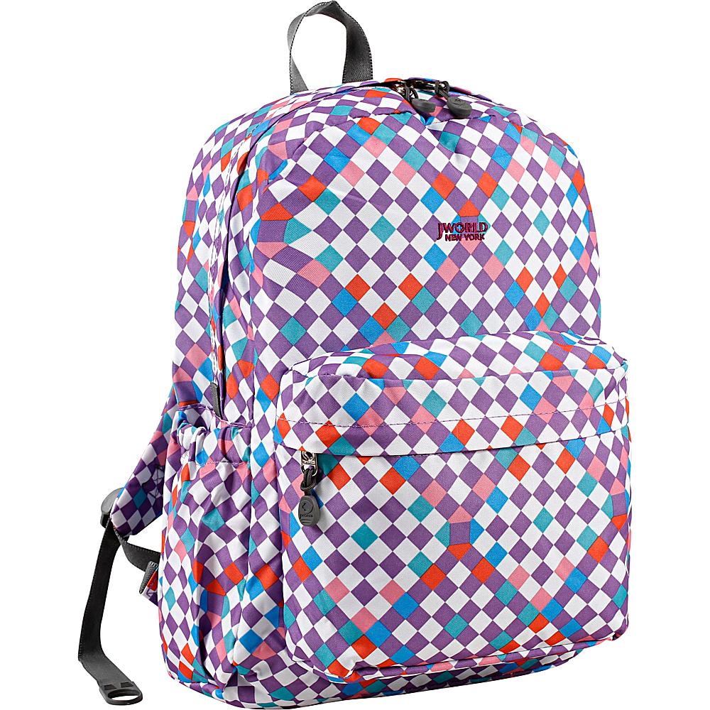 J World New York Oz School Backpack CHECKMATE - J World New York Everyday Backpacks - Backpacks, Everyday Backpacks