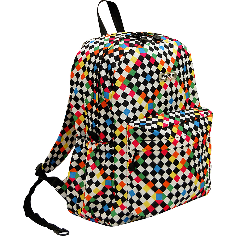 J World New York Oz School Backpack CHECKERS - J World New York Everyday Backpacks - Backpacks, Everyday Backpacks