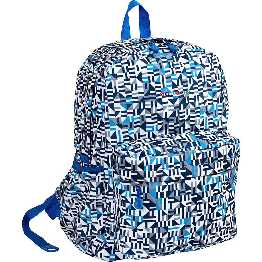 J World New York Oz School Backpack Geo Blue - J World New York Everyday Backpacks - Backpacks, Everyday Backpacks