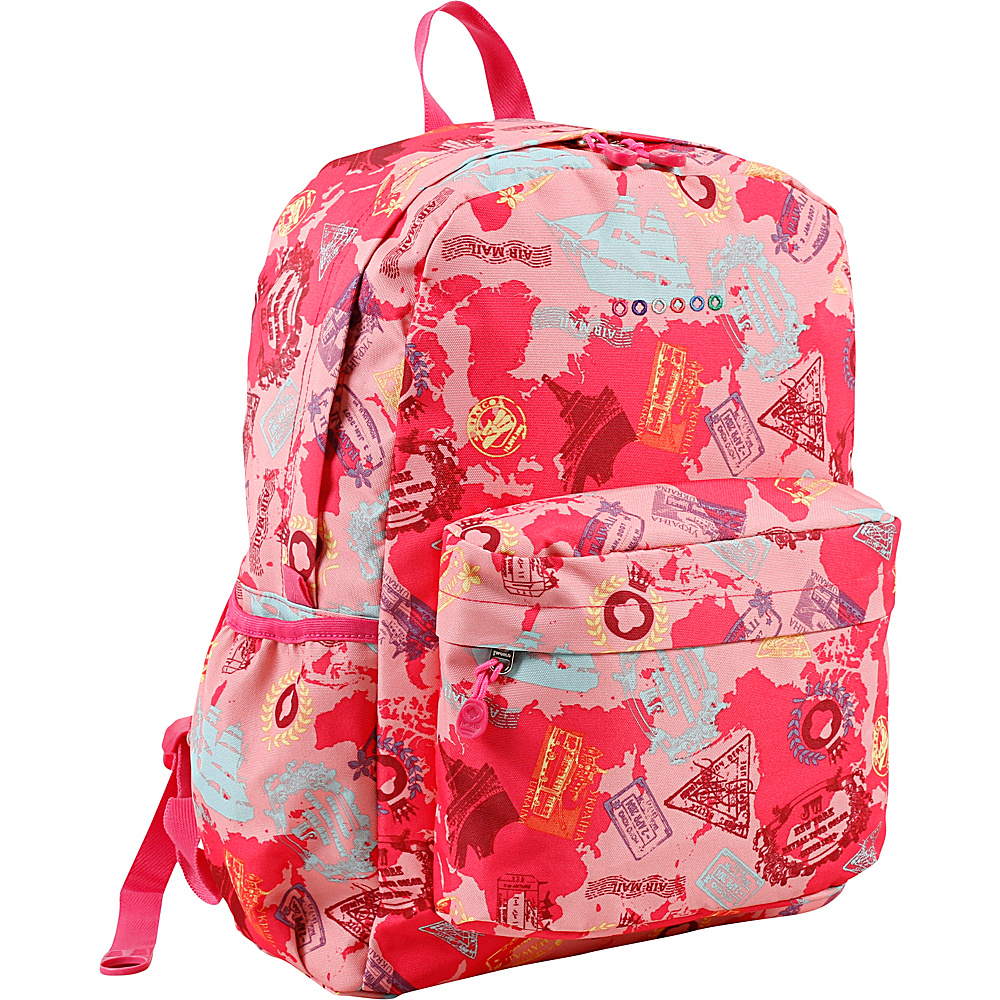 J World New York Oz School Backpack Pink Atlas - J World New York Everyday Backpacks - Backpacks, Everyday Backpacks