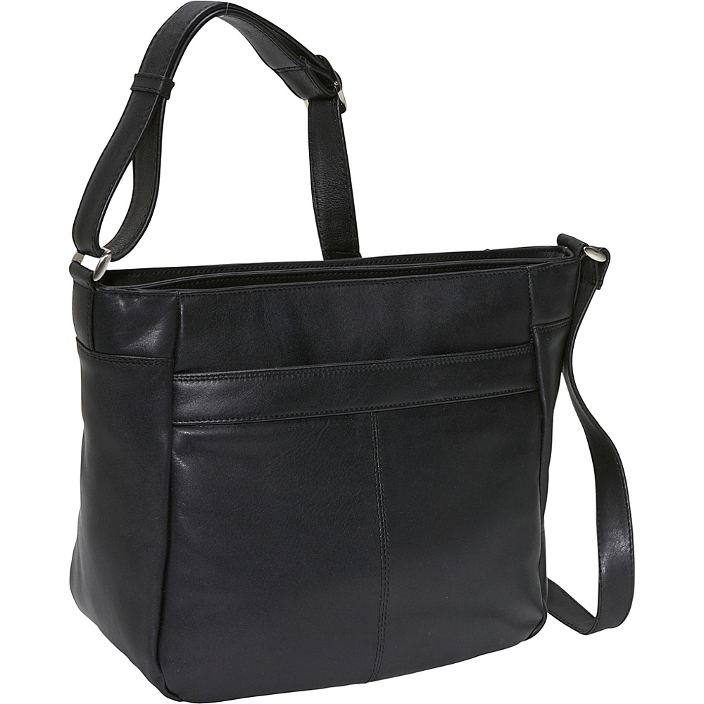 Derek Alexander Two top zip organizer - Black - Handbags, Leather Handbags