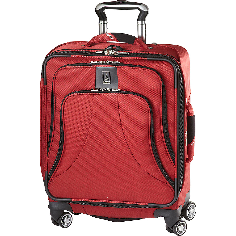 "Travelpro Walkabout Lite 4 20"" Exp. Wide Body Spinner Luggage CLOSEOUT Wine - Travelpro Softside Carry-On"
