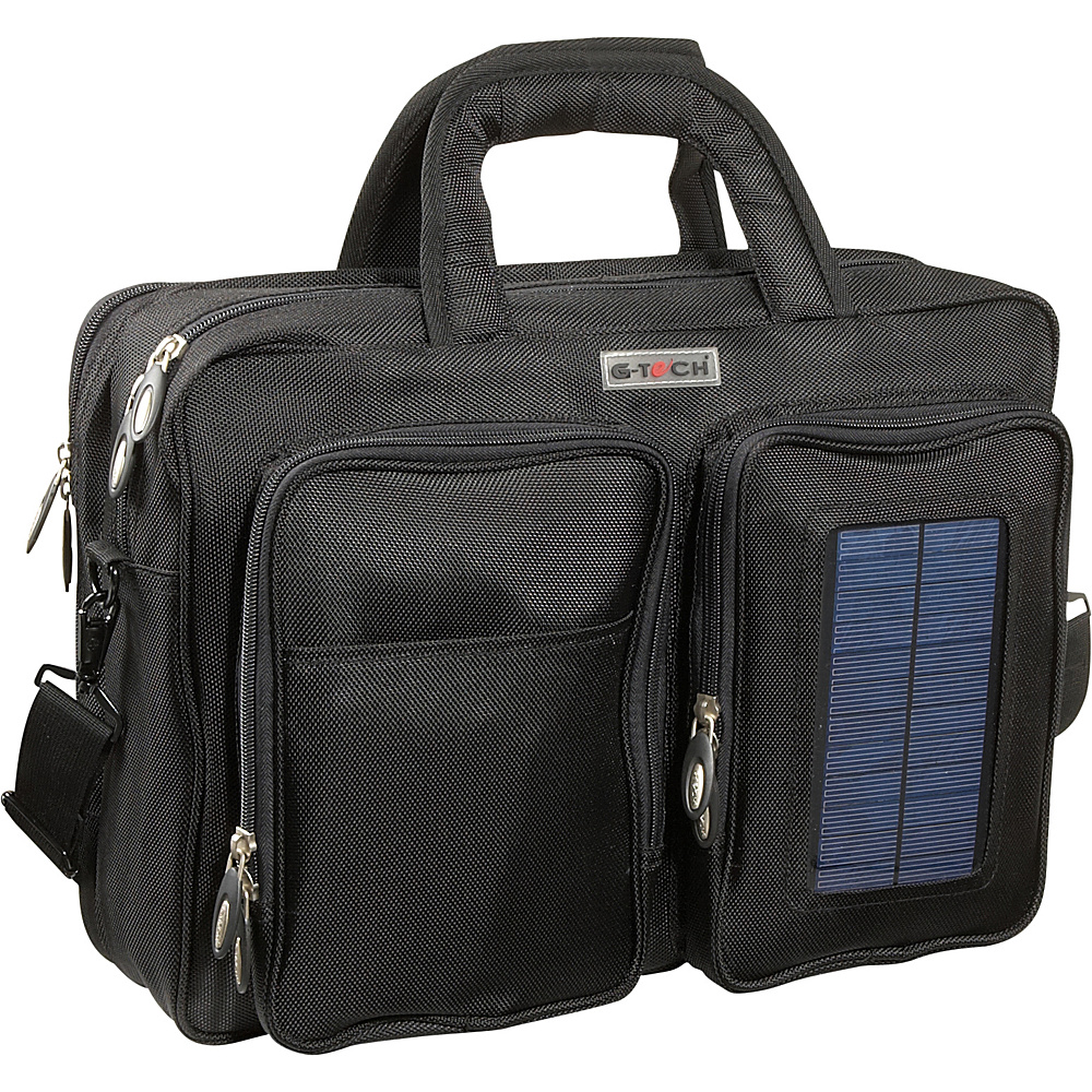 Bellino G-Tech Solar Computer Brief/Backpack - Black - Work Bags & Briefcases, Non-Wheeled Business Cases